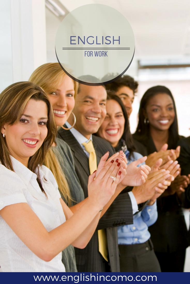 English For Work Con Immagini Imparare Inglese Corsi Di Inglese