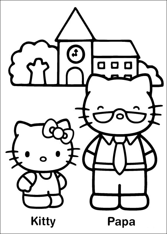 Hello Kitty And Papa Coloring Pages Gift Giving Pinterest - fresh keroppi coloring pages free to print