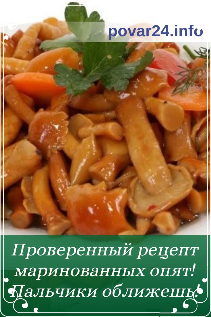 приготовление маринованных грибов опят рецепт