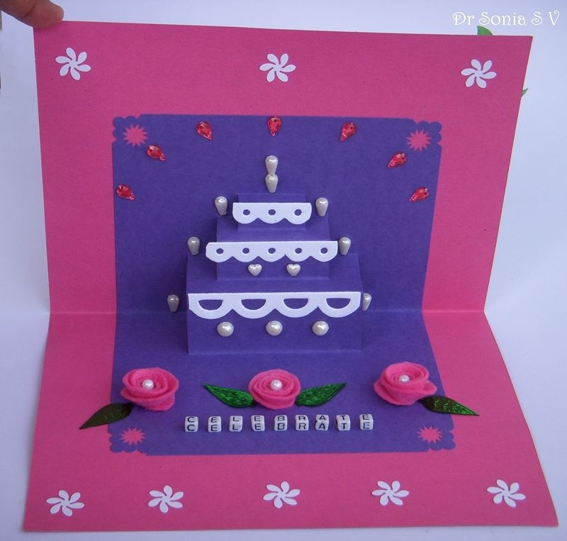 Cards Crafts Kids Projects Simple Pop Up Cake Card Tutorial Paper Crafts Diy Cake Card Card Tutorial