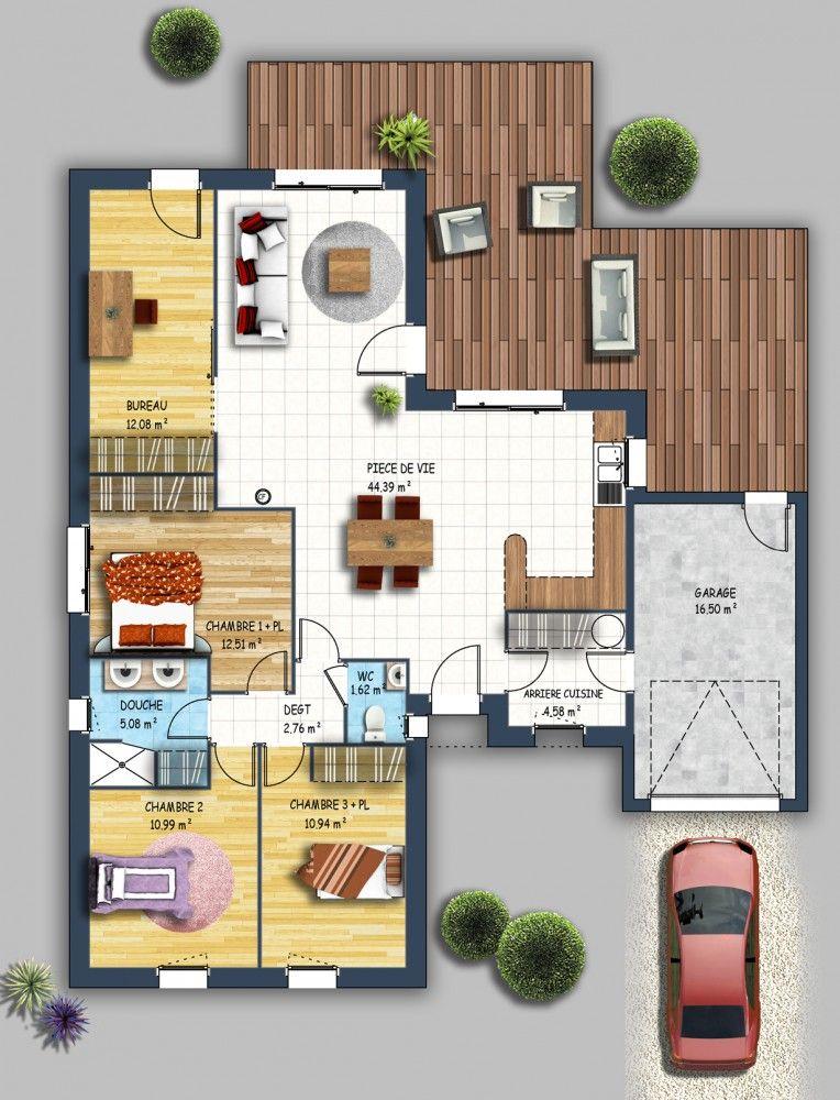 constructeur maison contemporaine bouguenais loire atlantique 44