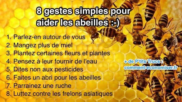 8 gestes simples pour aider les abeilles trucs et astuces. Black Bedroom Furniture Sets. Home Design Ideas