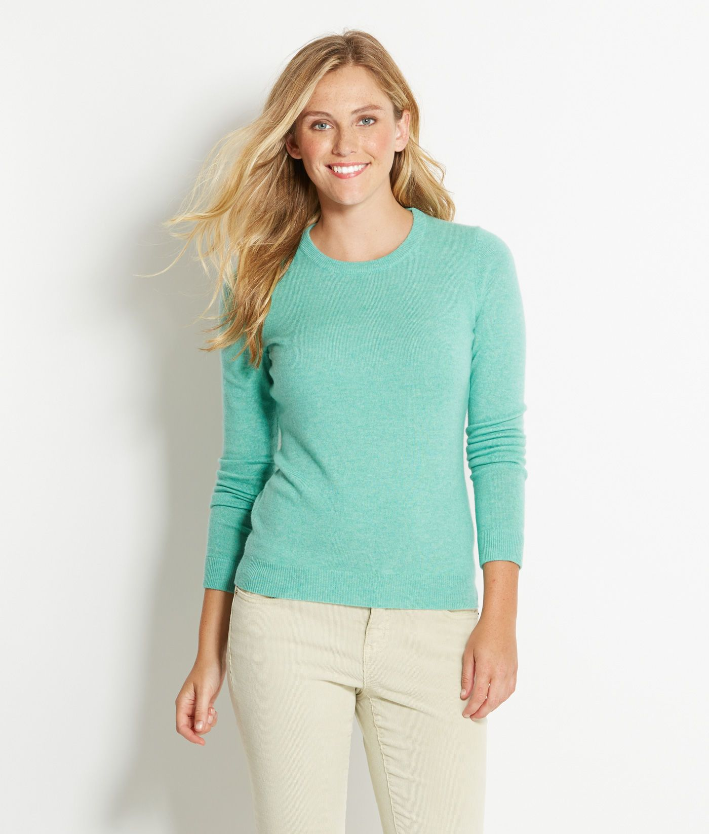 Shop Sweaters: Turnback Crewneck Sweater for Women | Vineyard ...