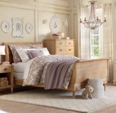 RH Emelia Sleigh Bed Nice Design