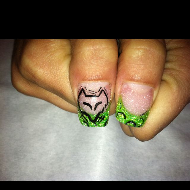 Fox racing nails | Fox <3 | Pinterest