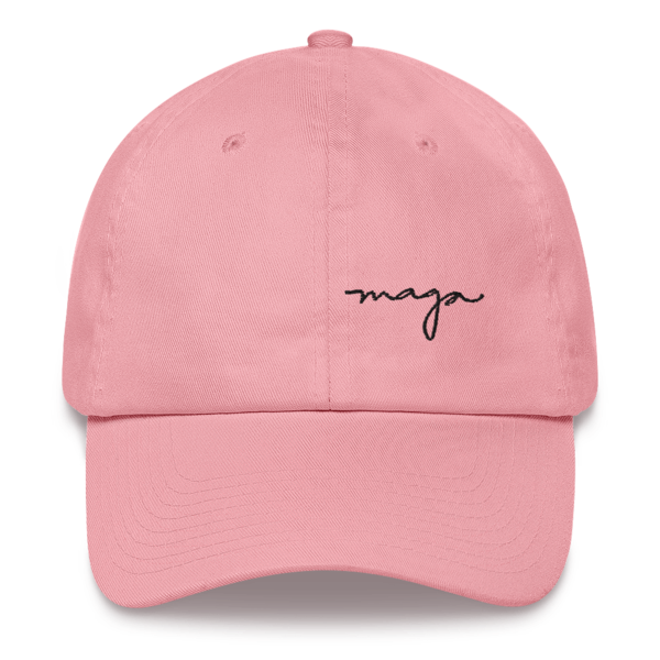 Pink Maga Signature Dad Hat The Officer Tatum Store In 2020 Dad Hats Hats Outfits With Hats