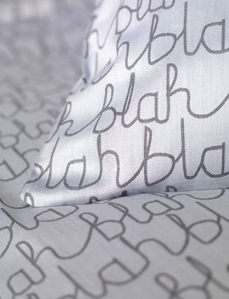 Blah Blah Cotton Bedding Set (With images) Bed linen