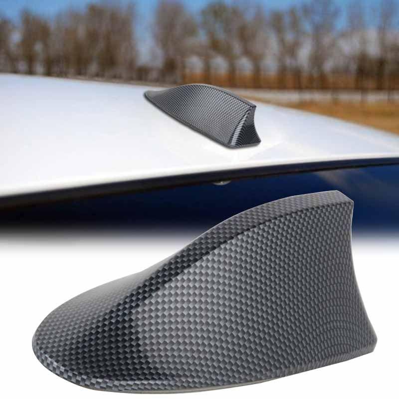 1 pz ad alte prestazioni pinna di squalo antenna auto in fibra di carbonio shark fin tetto antenna radio fm/am decorare antenna per bmw