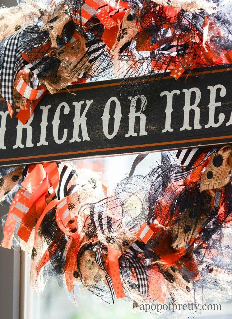 Photo of DIY Ribbon Wreath (Halloween or All Season) – A pop from Pretty Canadian Home Decor Blog
