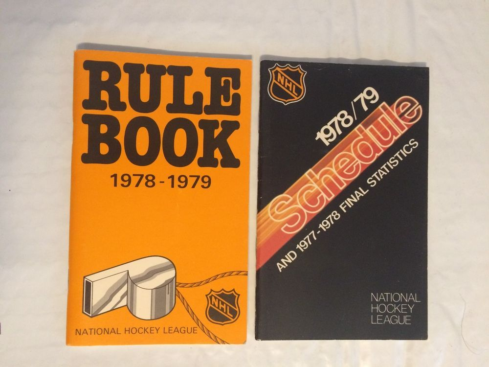 1978 1979 National Hockey League Nhl Rule Book And Schedule 78 79