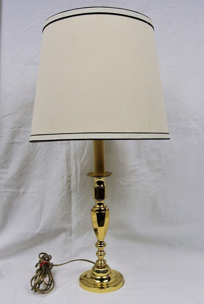 Classic Baldwin Brass 24 Table Lamp With Shade Solid Forged Brass Made In Usa Table Lamp Lamp Lamps Lighting