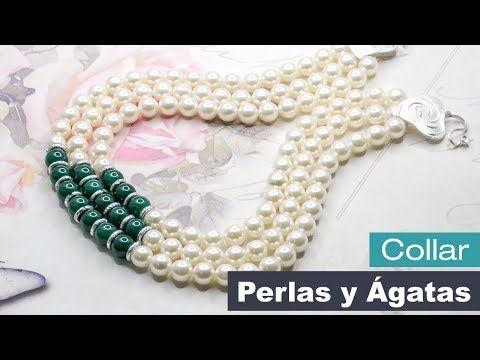 188b7e3b7757 Aprende Cómo Hacer un Collar con Perlas y Ágatas - Variedades y Fantasías  Carol - YouTube