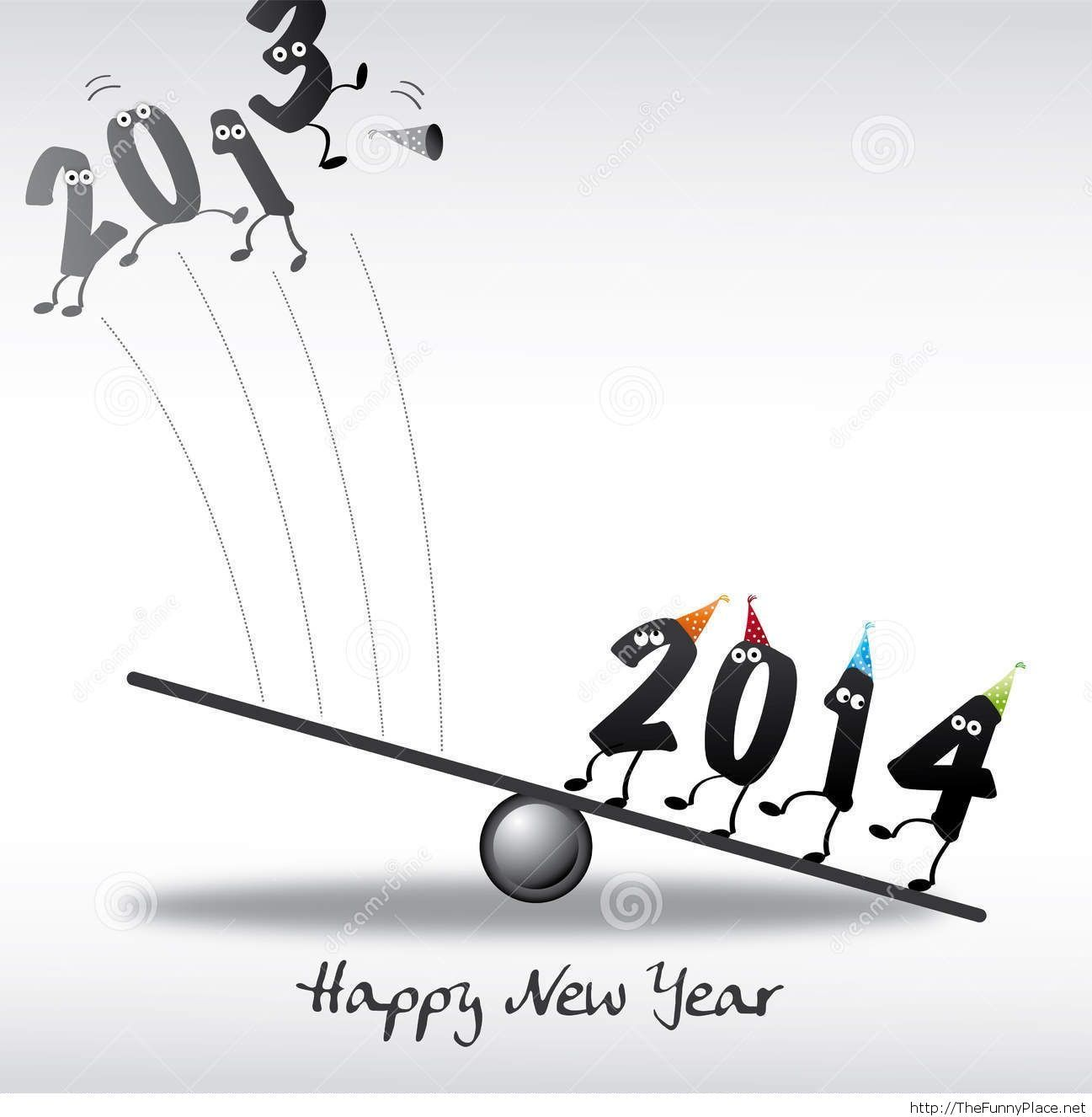 Happy new year 2014 greeting card - Funny Pictures, Awesome Pictures ...