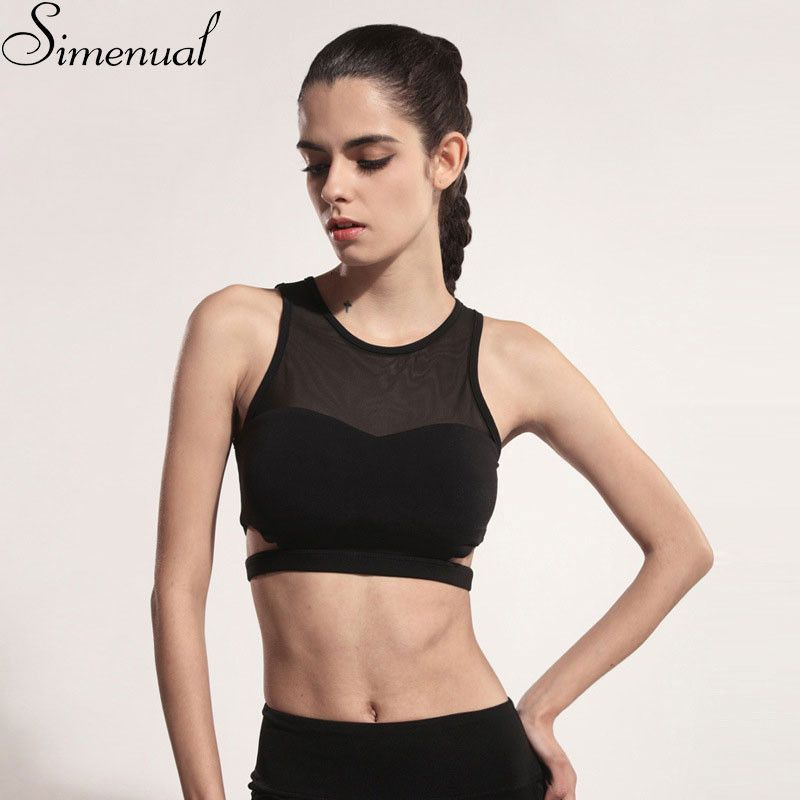 Item Type: Tops Gender: Women Decoration: None Clothing Length: Short Pattern Type: Patchwork Brand Name: Simenual Fabric Type: Jersey Material: Polyester,Spandex Tops Type: Tank Tops Model Number: wo
