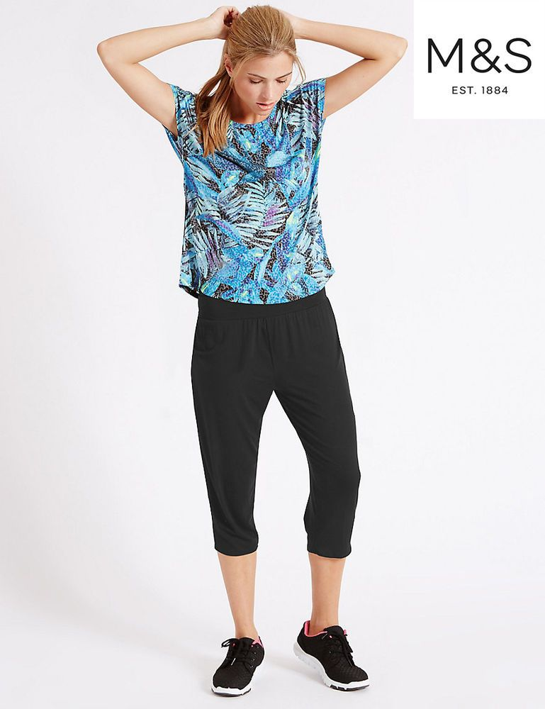 Ex-M/&S Collection-Floral Summer Trousers