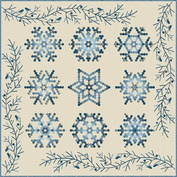 Snowflake Block of the Month | English paper | Pinterest | Bordado