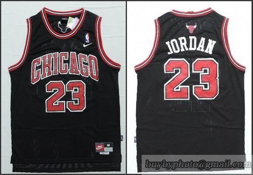 competitive price d45e9 1c552 NBA Chicago Bulls #23 Michael Jordan Black Swingman Jersey ...