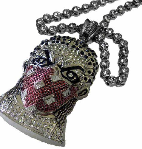 Masked man colour pendant faux diamond chain hiphop bling combo masked man colour pendant faux diamond chain hiphop bling combo http aloadofball