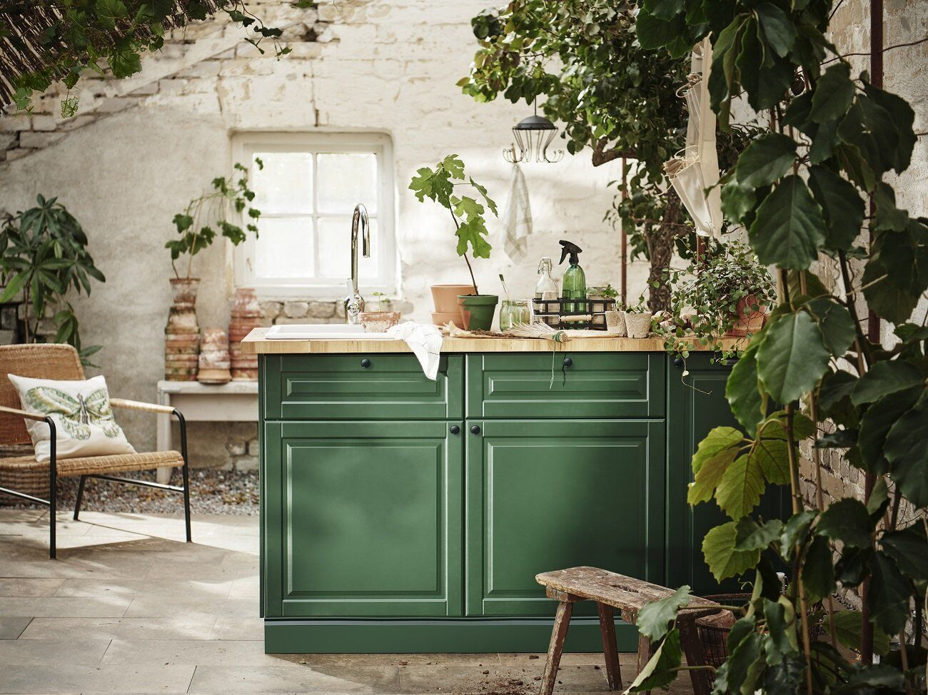 Ikea Spring Collection 2020 Mindful Living And Close To Nature The Nordroom In 2020 Dark Green Kitchen Outdoor Kitchen Cabinets Kitchen Layout