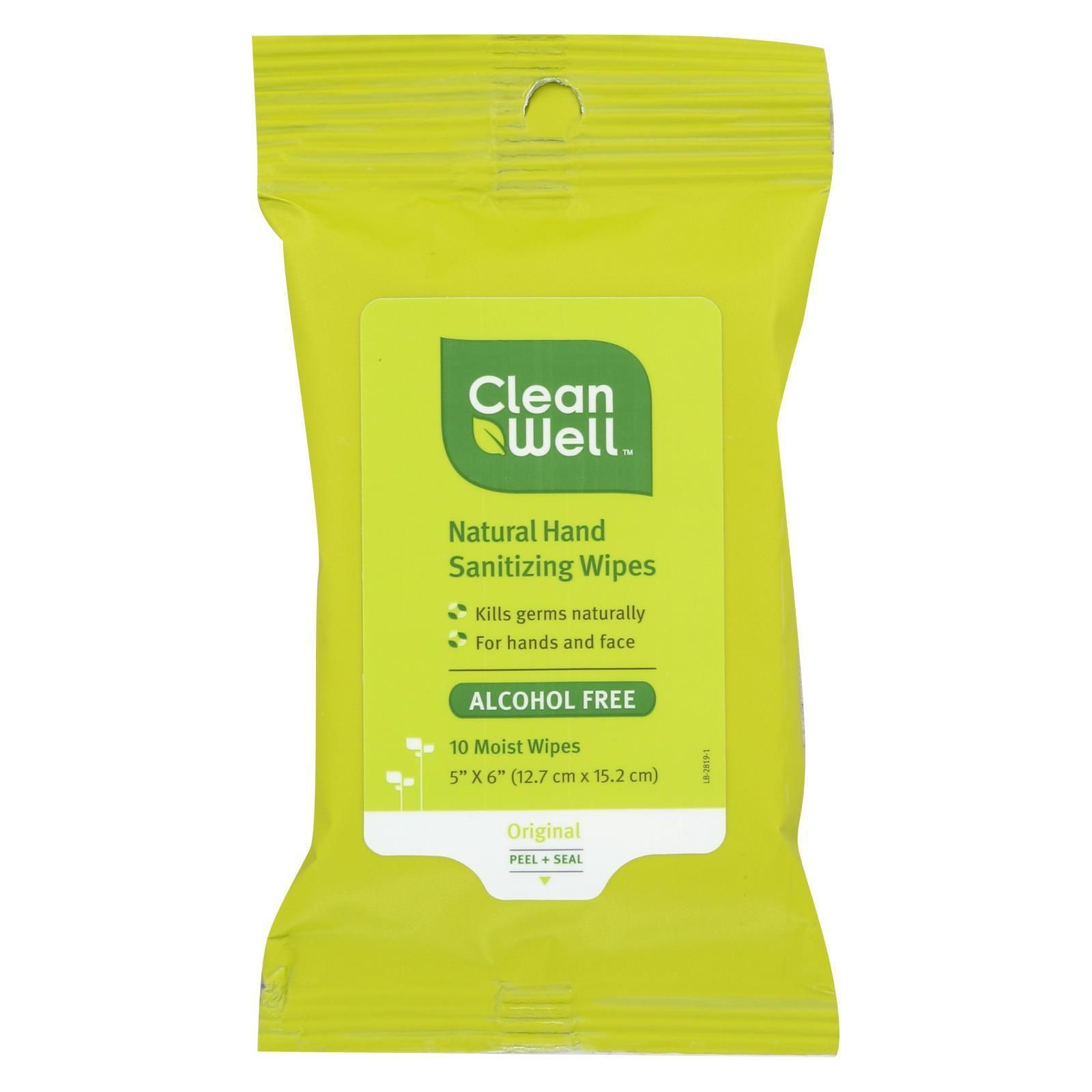 Cleanwell Hand Sanitizing Wipes Travel Size 10 Ct Case Of 8