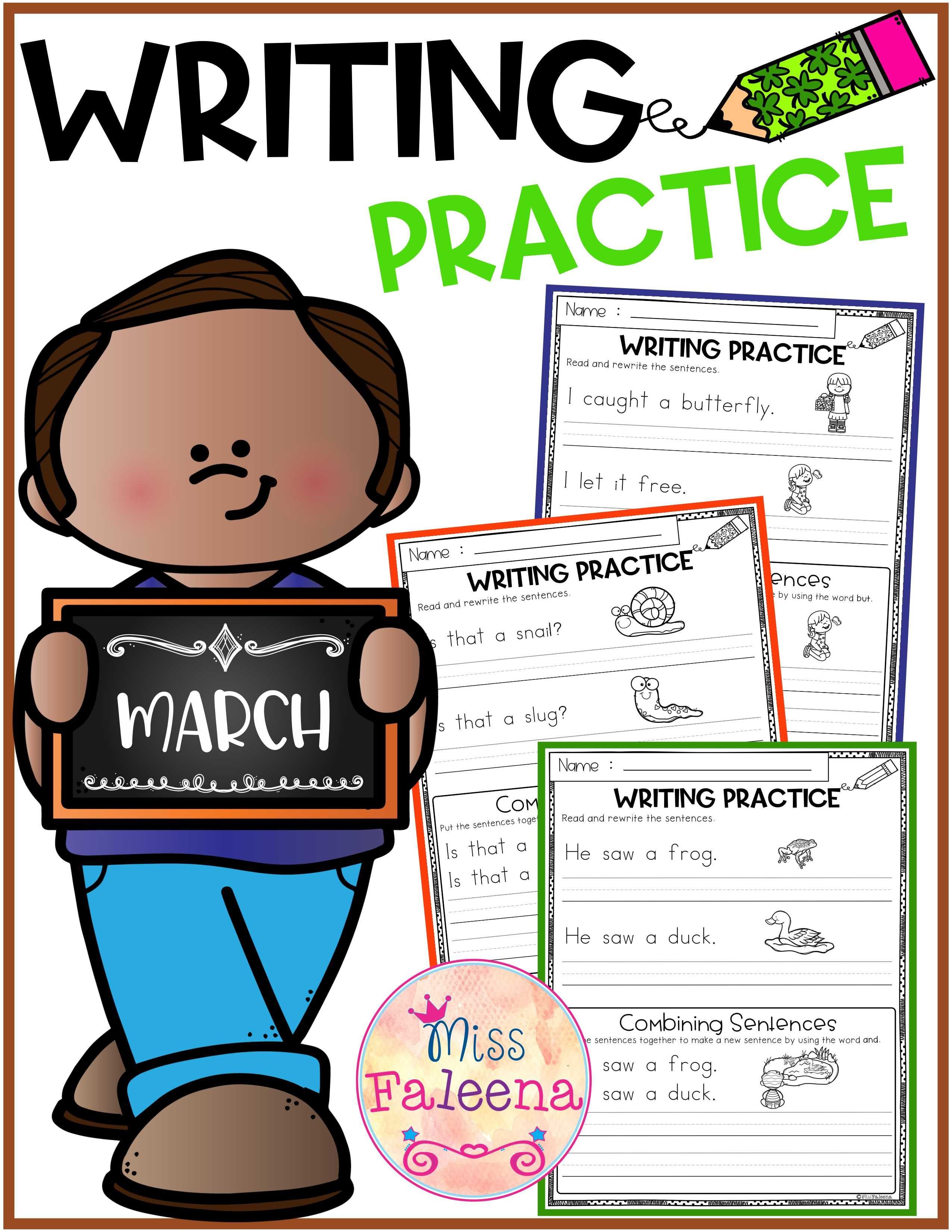 March Writing Practice Combining Sentences