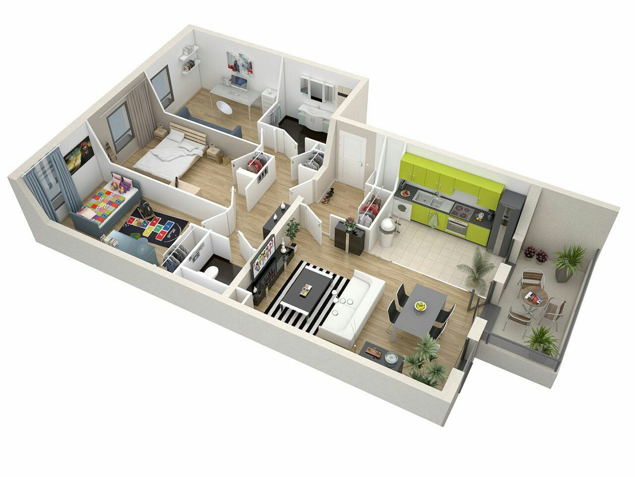 Pin by Chacha on Plan 3D   House plans, House, Sims 4 houses