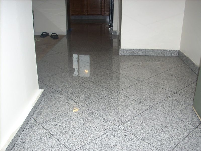 Granite Floor Diagonal Layout Pattern