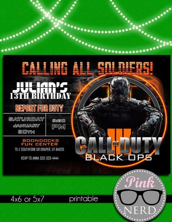 Call of duty black ops 3 birthday invitation by pinknerdprintables call of duty black ops 3 birthday invitation by pinknerdprintables filmwisefo Image collections