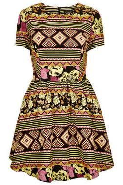 Aztec Jacquard Flippy Dress