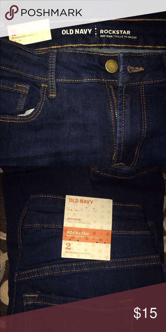 ✨old navy skinny jeans NWT • size 2 • skinny jeans • dark blue • Old Navy Jeans Skinny