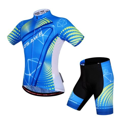 Unisex Breathable Comfortable Short Sleeve Padded Shorts Cycling Clothing Set Riding Sportswear