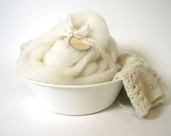 Spinning Fiber Cormo Alpaca roving undyed natural 2 by swoonfibers