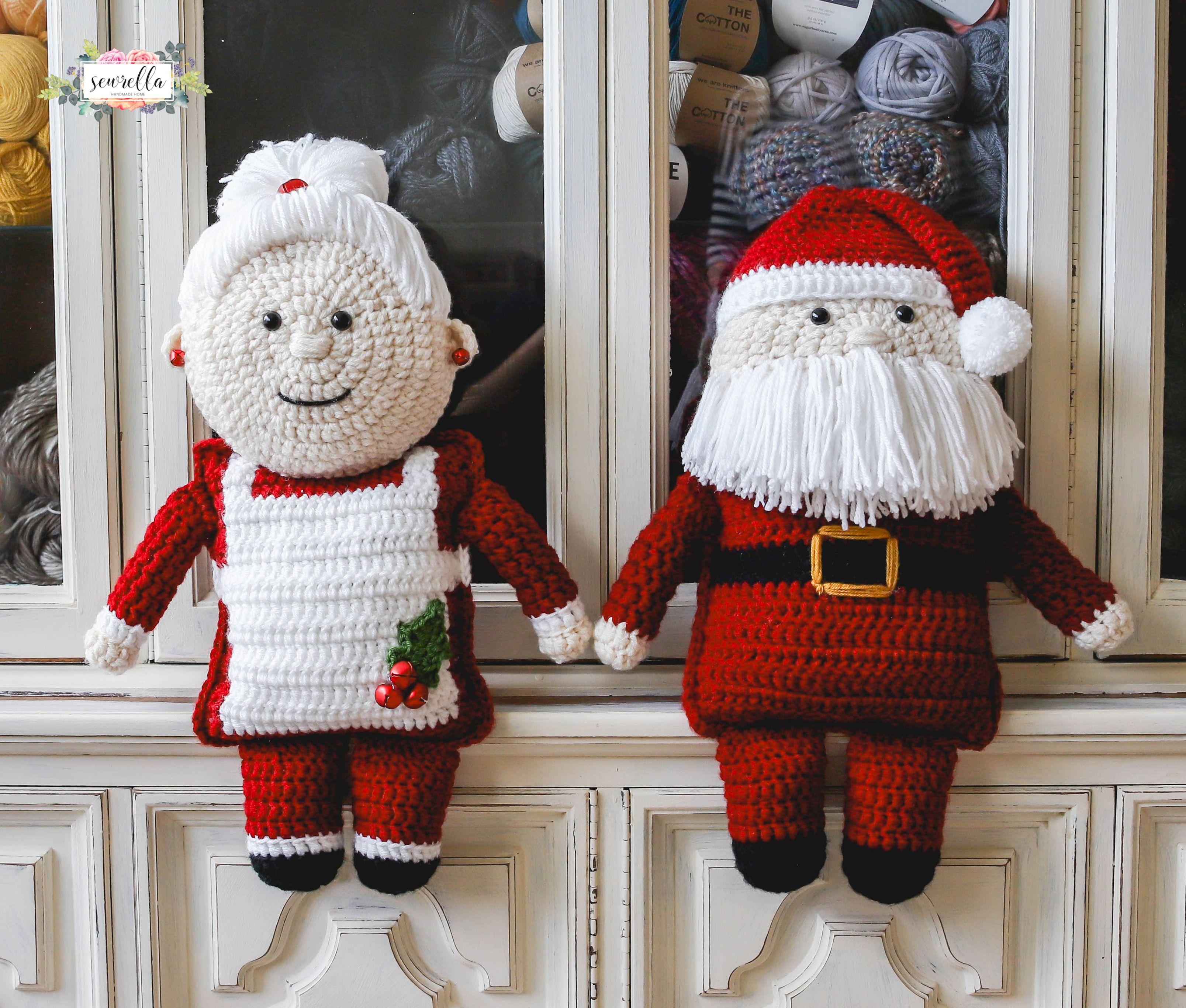 Crochet Mrs. Claus | Häkeln englisch, Englisch und Weihnachten