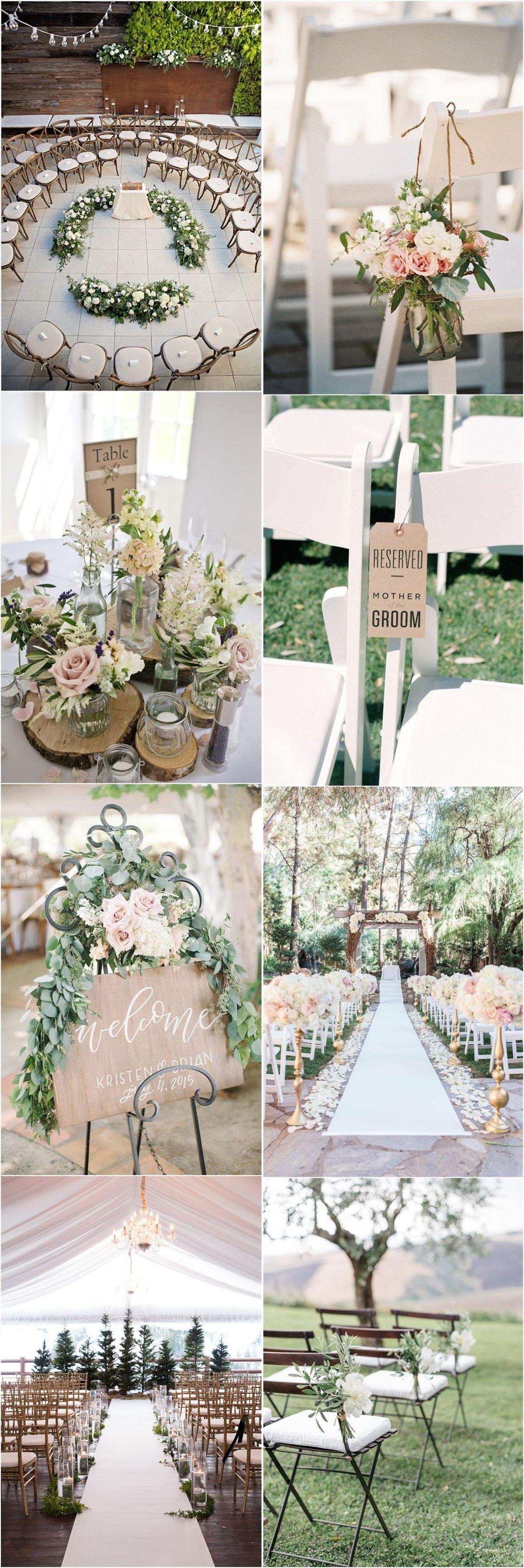 25 Rustic Outdoor Wedding Ceremony Decorations Ideas | Rustic ...