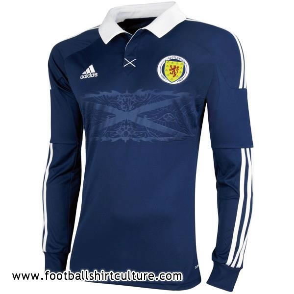 Scotland 11/12 Adidas Home Football Shirt   Football shirts ...
