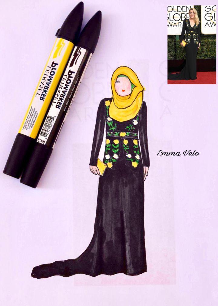 f8ba25a933e43 golden globes fashion in hijab