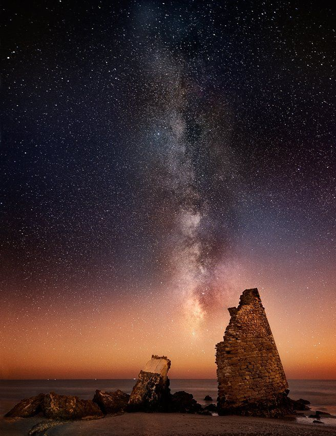 starry sky in spain