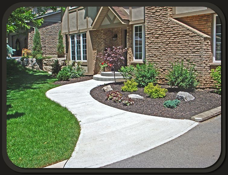 Brick Concrete Walkway Design Front Of House Part - 27: Cement Walkway | Concrete Walkways Are Excellent For Enhancing The  Appearance Of The .