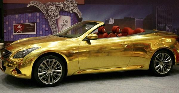 Golden Sports Car Gold Car Car Pictures Cars