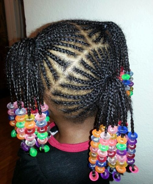 Pigtail Hairstyles with Beaded Ends Simple cornrows Braids