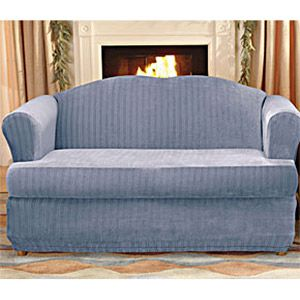 Sofa Pillows Sure Fit Stretch Pinstripe Piece T Cushion Sofa Slipcover wlmart