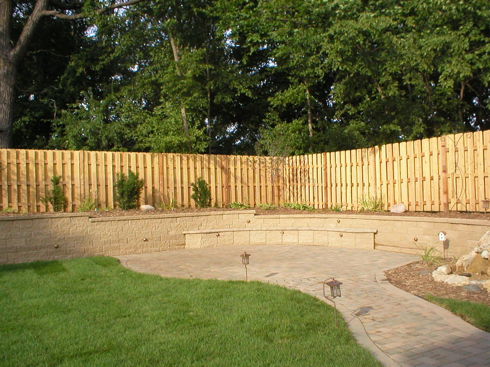 I like this for fences as the panels with trellis alternating ...