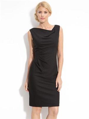 Drape Neck Gathered Jersey Sheath Dress www.simpledresses.co.uk £77.0000
