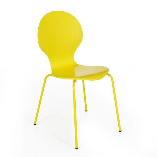 Chaise jaune rétro - Maddy | Jaune | Pinterest | Chaises jaunes ...