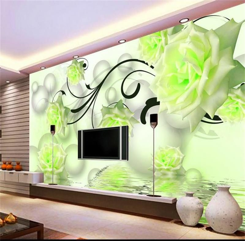 3d room wallpaper custom mural non-woven wall sticker 3d rose