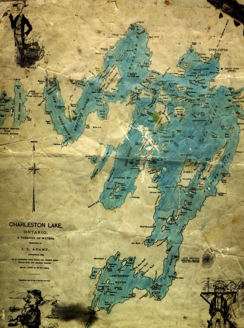 Map of Charleston Lake Thousand Islands Ontario