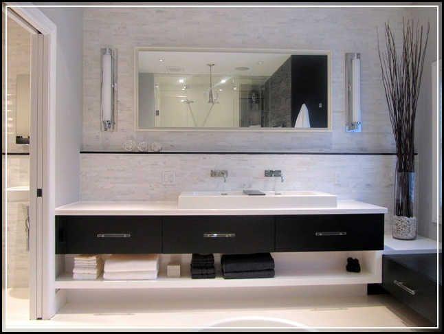 Art Exhibition floating bathroom vanity