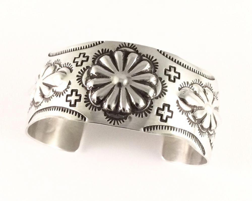 Sterling Silver Native American Navajo Indian Cuff