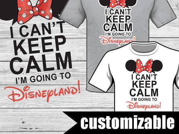 Can/'t Keep calm going to Disney world Florida T Shirt Tee Boys Kids Children