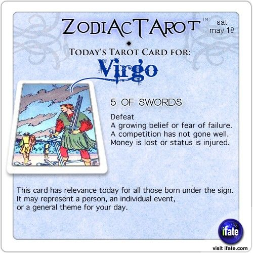 Daily tarot card for Virgo from ZodiacTarot! Virgo, have you seen today's horoscope???   Visit iFate.com now!